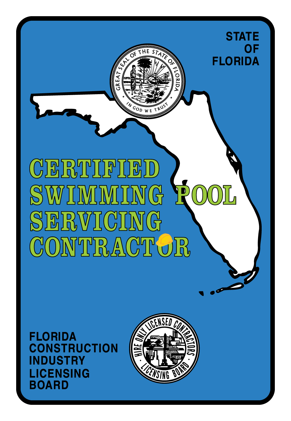 Certified Swimming Pool Servicing Contractor - Construction Decals ...